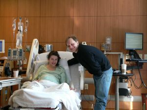 Matt and me early on the morning of March 2, 2009. We induced labor at 8 a.m., and Noah was born 12 hours later, at 8:10 p.m.--a rather short time for an induction, or so the nurses said.