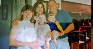 My siblings, some of their children, and me; at Jim's house in Ohio