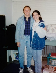 My brother and me at the start of my senior year of college, September 1995, Evanston, Ill.