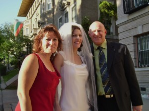 With Lisa and Jim on my wedding day, April 29, 2006, in Washington, D.C. Photo by Laura Buck.