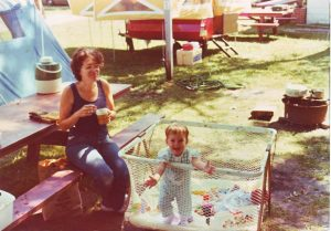 My Mom and me, sometime in 1975, Ohio. I'd like to outlive her 46 years.  Photo by Dean Lane